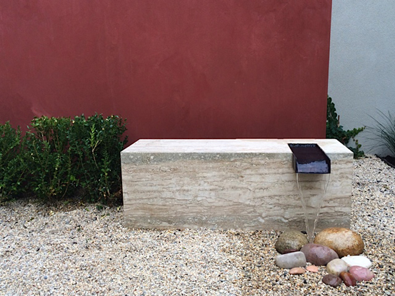 travertine water feature